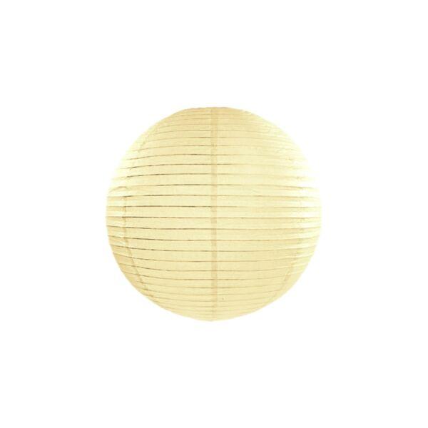 lampion gömb 35 cm - krém