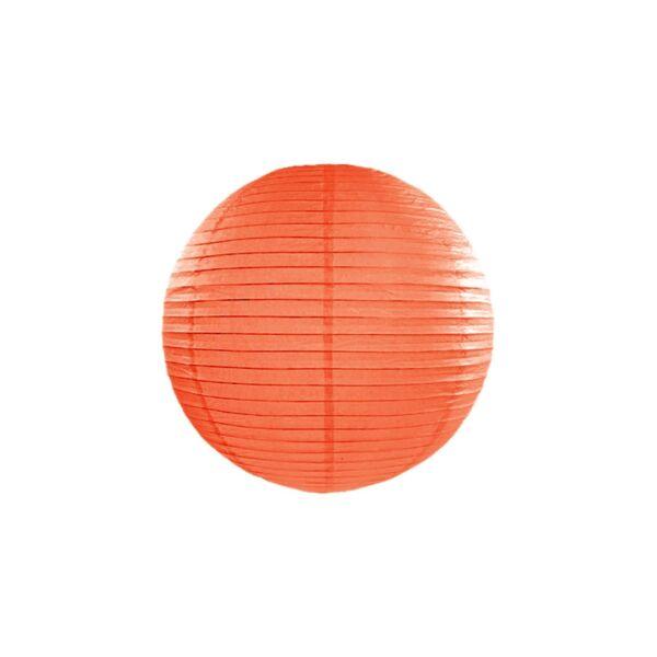 lampion gömb 35 cm - narancs