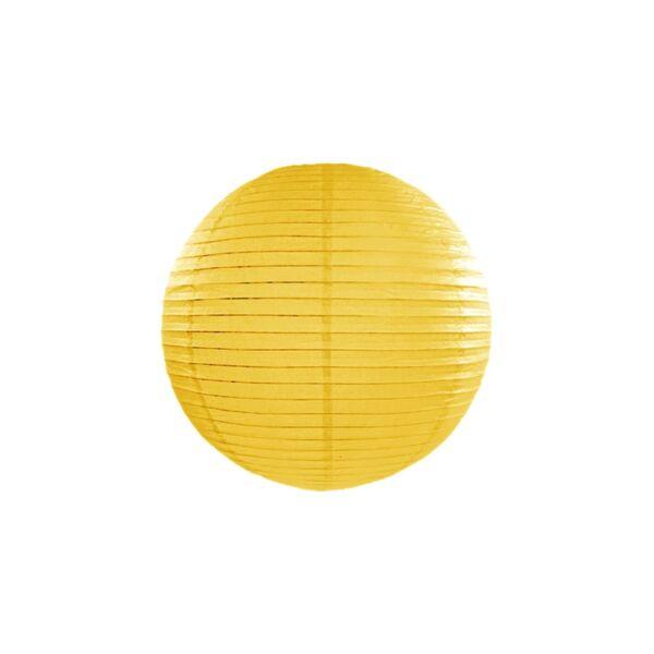 lampion gömb 35 cm - sárga