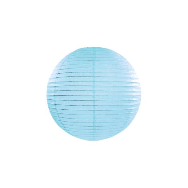 lampion gömb 35 cm - világoskék