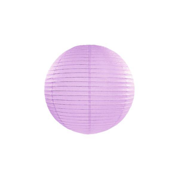 lampion gömb 35 cm - világoslila