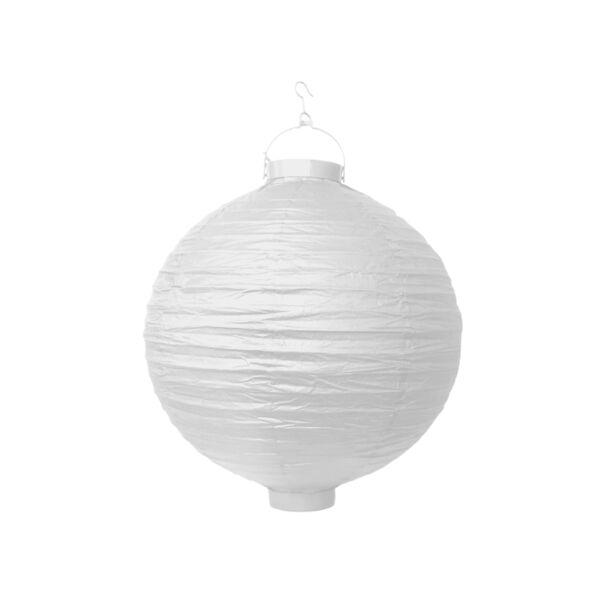 világító LED lampion gömb 30 cm - fehér
