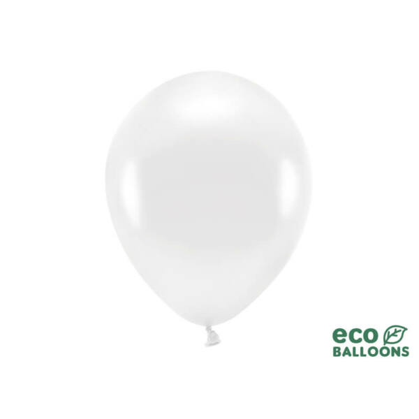 metál lufi 30 cm - fehér