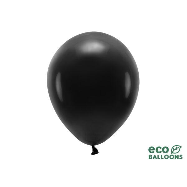pasztell lufi 30 cm – fekete