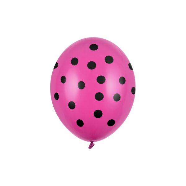 pöttyös lufi 30 cm - pink