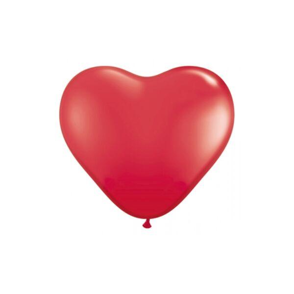 szív alakú lufi 25 cm – piros