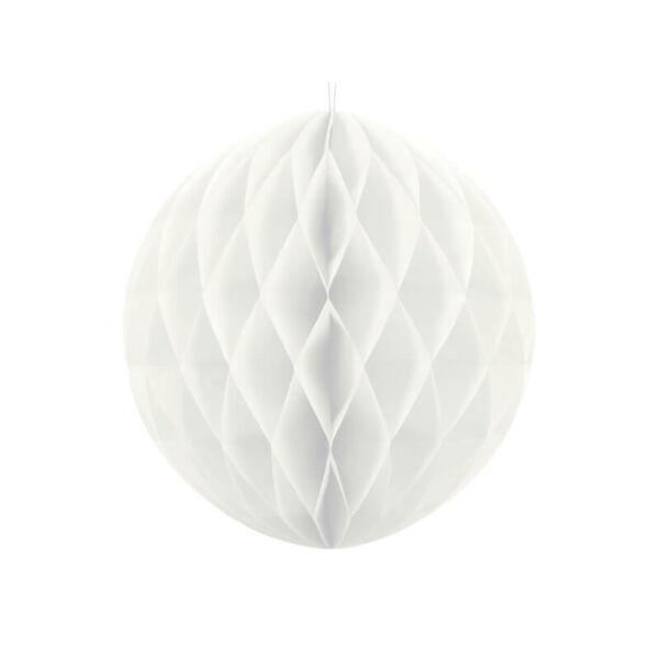méhsejt papír gömb 30 cm - fehér