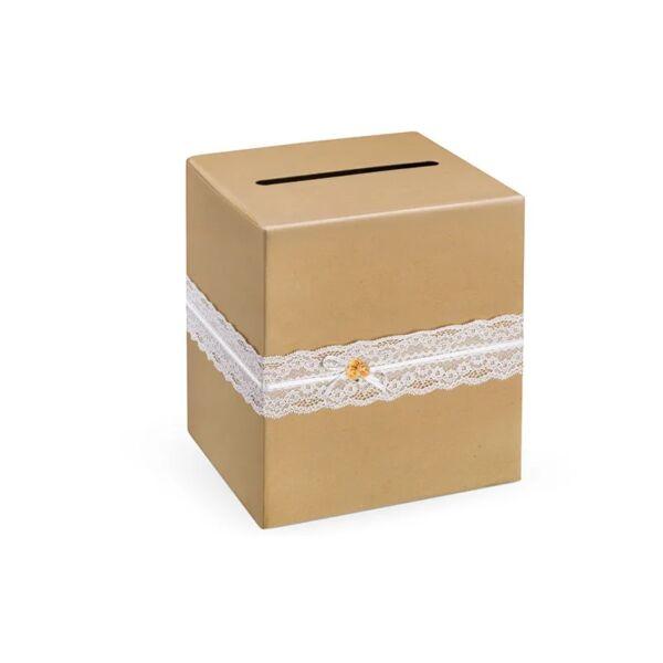 nászajándék gyűjtő doboz – vintage, barna
