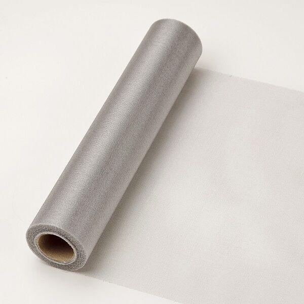 23,5 cm széles organza futó (10 m) – ezüst