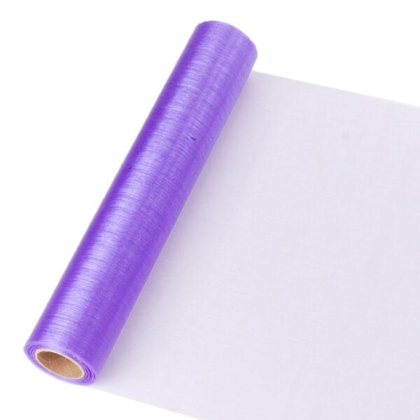 23,5 cm széles organza futó (10 m) - lila
