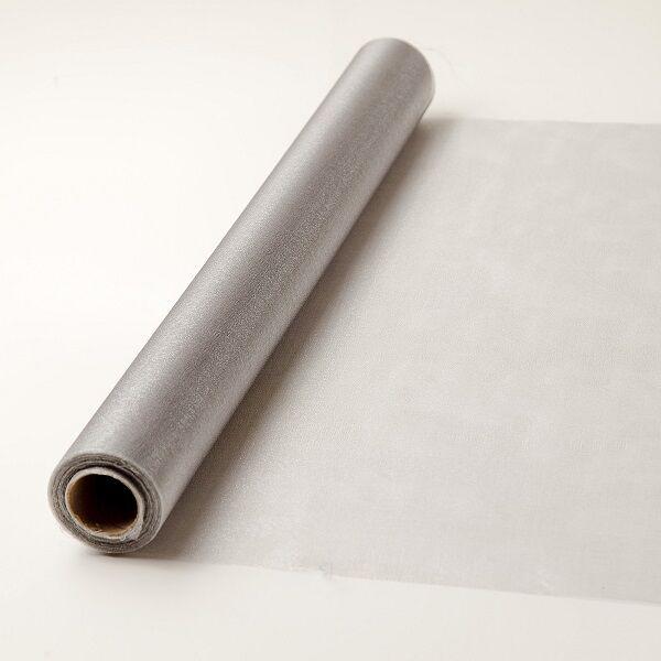 47 cm széles organza futó (10 m) – ezüst