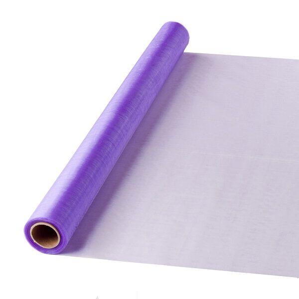 47 cm széles organza futó (10 m) – lila