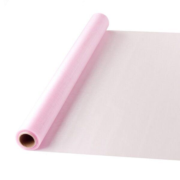 47 cm széles organza futó (10 m) – rózsaszín