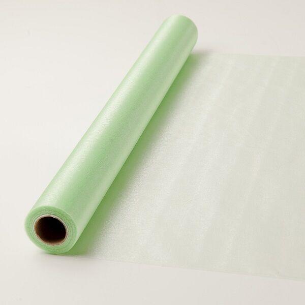47 cm széles organza futó (10 m) – zöld