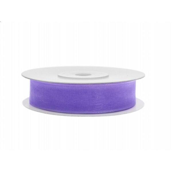 12 mm széles organza szalag (25 m) – lila