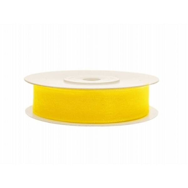 12 mm széles organza szalag (25 m) – sárga
