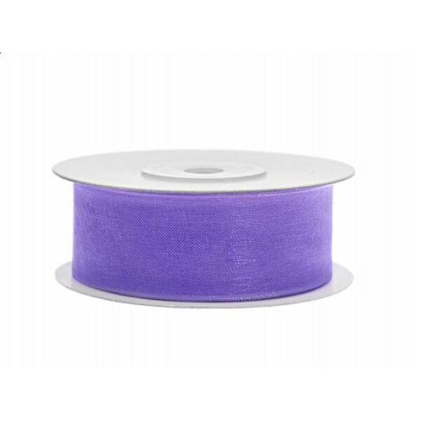 25 mm széles organza szalag (25 m) – lila