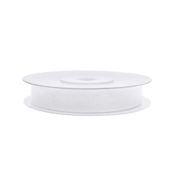 6 mm széles organza szalag (25 m) - fehér