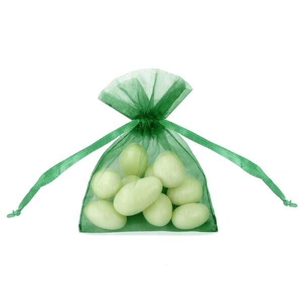 organza tasak 7,5x10 cm (20 db/cs) - smaragdzöld