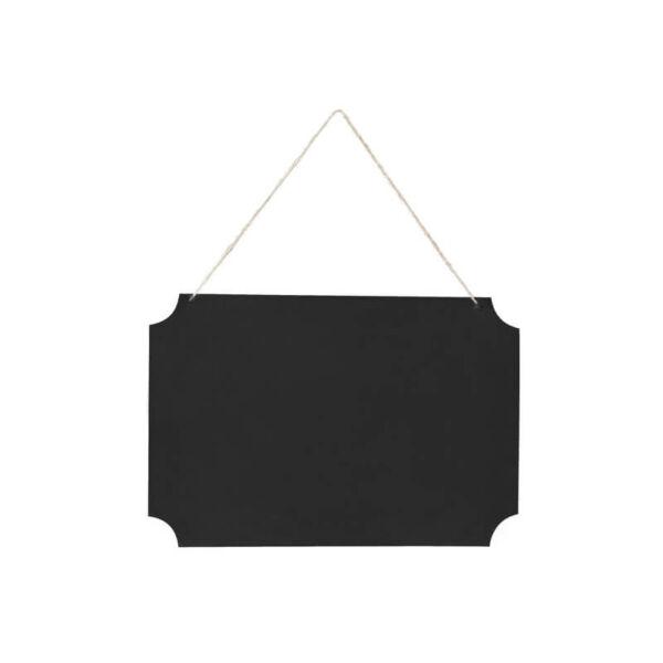 feliratozható fekete tábla - akasztós