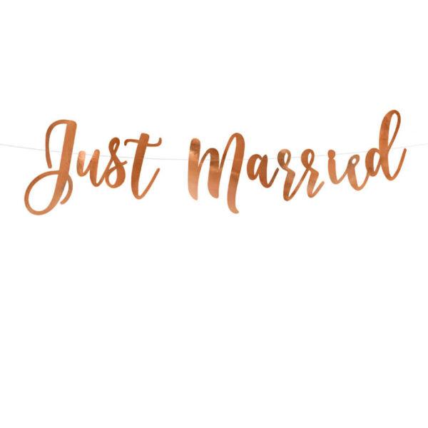 Just Married füzér – rose gold