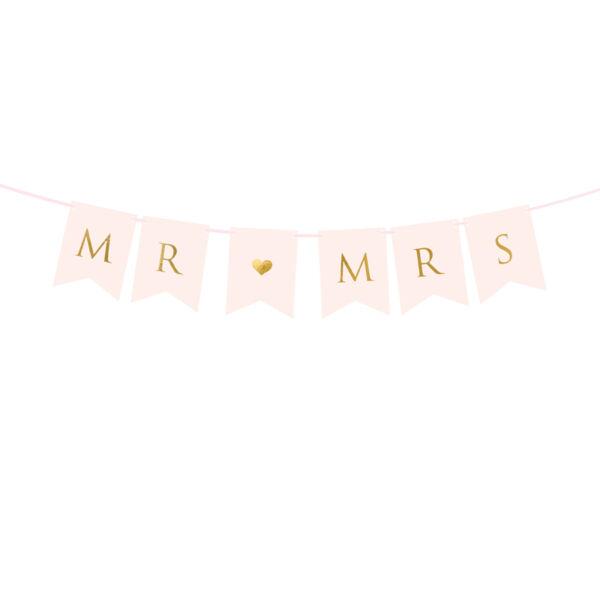 Mr és Mrs füzér - rózsaszín