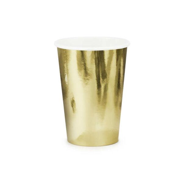papír pohár (6 db/cs) – arany