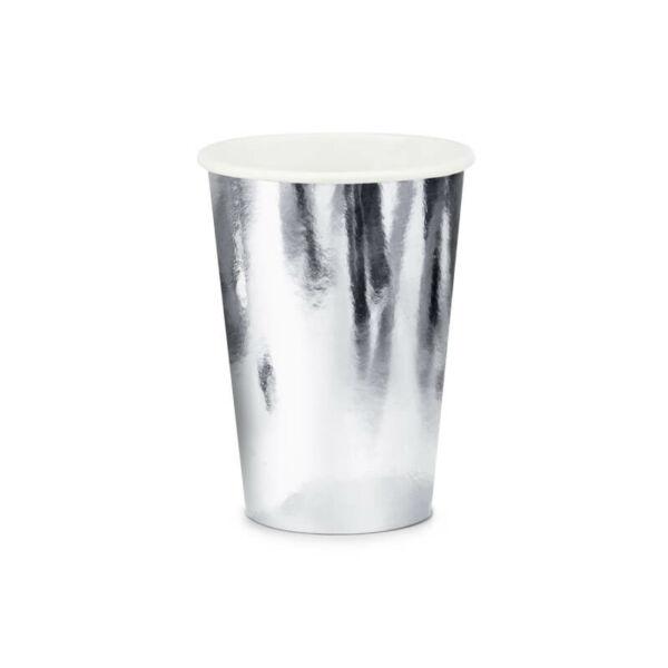 papír pohár (6 db/cs) – ezüst