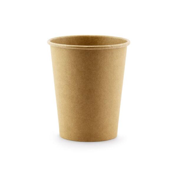papír pohár (6 db/cs) – natúr