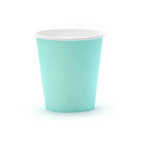 papír pohár (6 db/cs) – menta