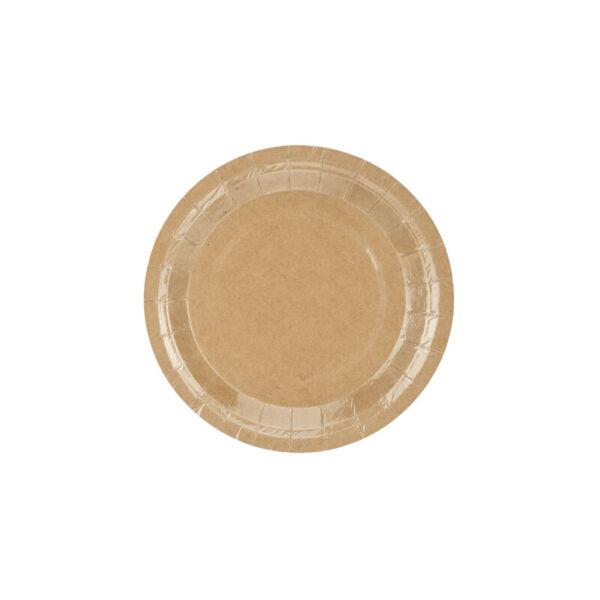 papír tányér (6 db/cs) - natúr
