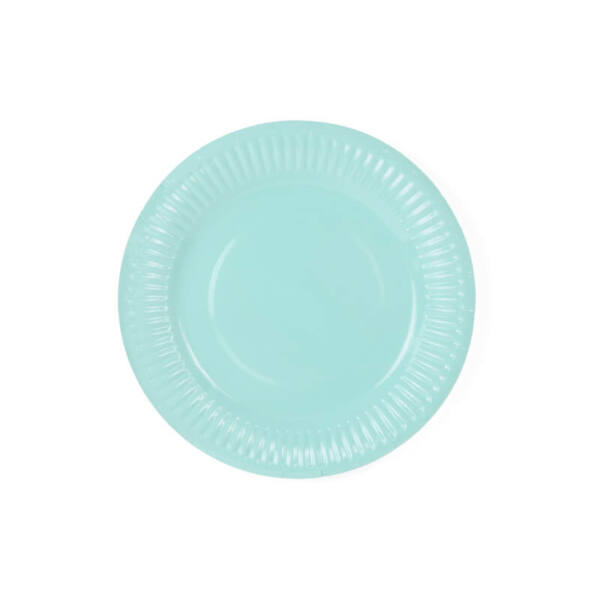 papír tányér (6 db/cs) - menta