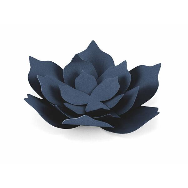 papír virág lótusz (3 db/cs) – tengerészkék