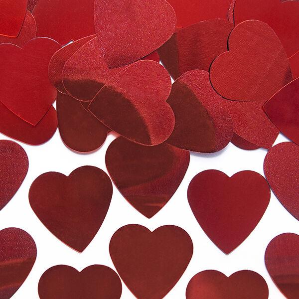 szív konfetti (10 g/cs) – nagy, piros