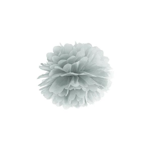 pompom 25 cm - ezüst