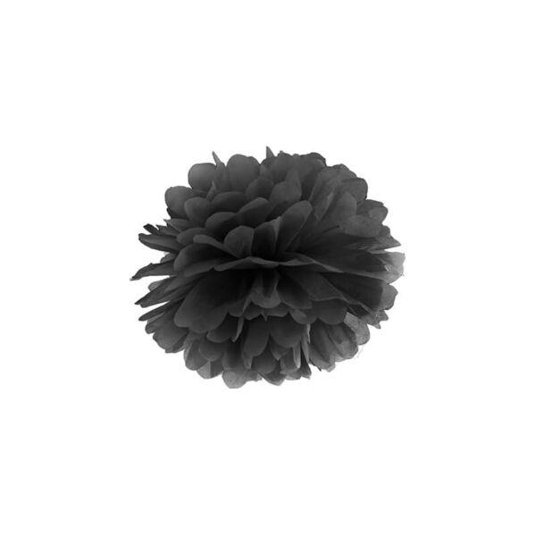 pompom 25 cm - fekete