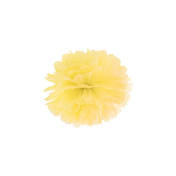 pompom 25 cm - sárga