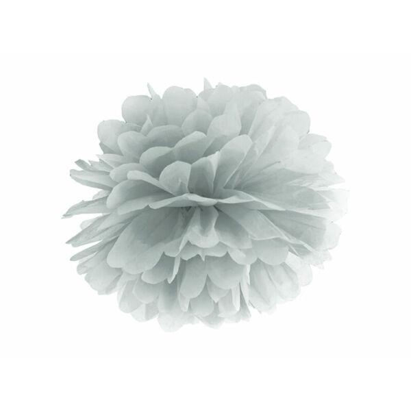 pompom 35 cm - ezüst