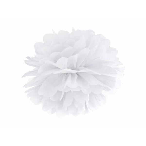 pompom 35 cm - fehér