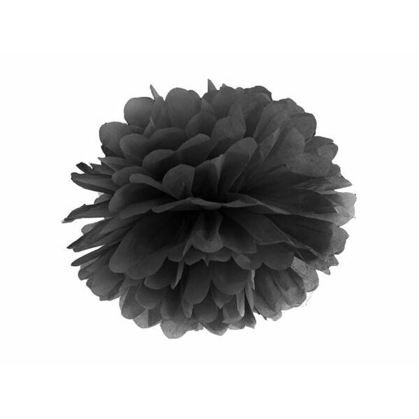 pompom 35 cm - fekete
