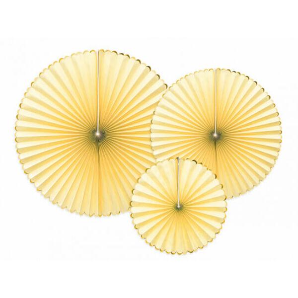 papír rozetta (3 db/cs) - sárga