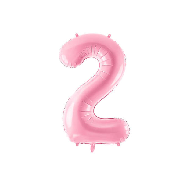 szülinapi fólia lufi 86 cm - 2-es szám, rózsaszín