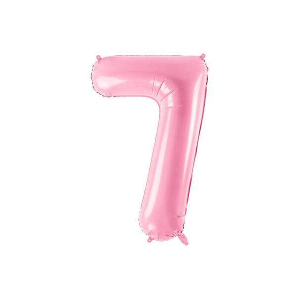 szülinapi fólia lufi 86 cm – 7-es szám, rózsaszín