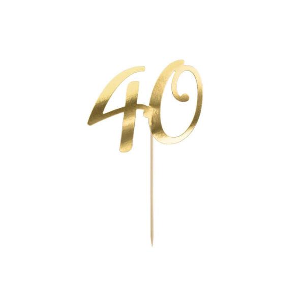 szülinapi tortadísz - 40-es szám