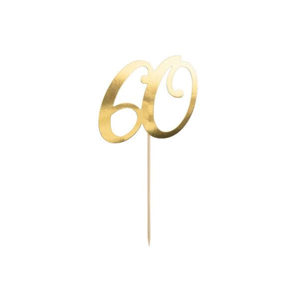 szülinapi tortadísz - 60-as szám