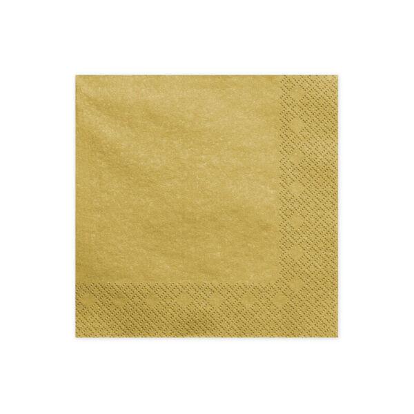 szalvéta 33x33 cm 3 rétegű (20 db/cs) - arany
