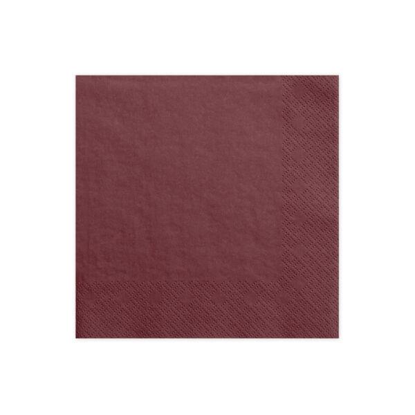 szalvéta 33x33 cm 3 rétegű (20 db/cs) - bordó