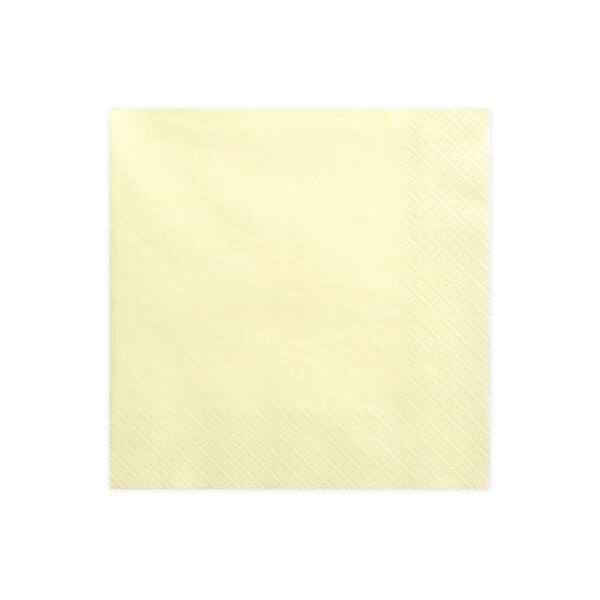 szalvéta 33x33 cm 3 rétegű (20 db/cs) – krém