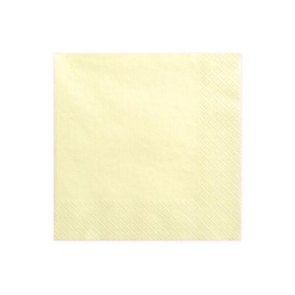 szalvéta 33x33 cm 3 rétegű (20 db/cs) - krém