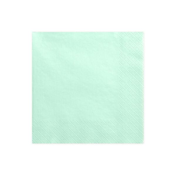 szalvéta 33x33 cm 3 rétegű (20 db/cs) - menta